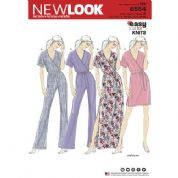 6554 New Look Pattern: Misses' Jumpsuit and Maxi Dress